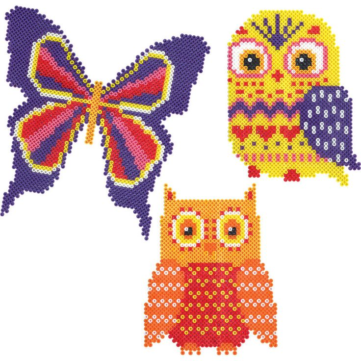 Bright colors and patterns give these creatures life in great detail with Mini Beads!