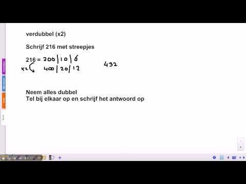 ▶ Pluspunt 3: groep 5 blok 5 les 3 halveren en verdubbelen - YouTube