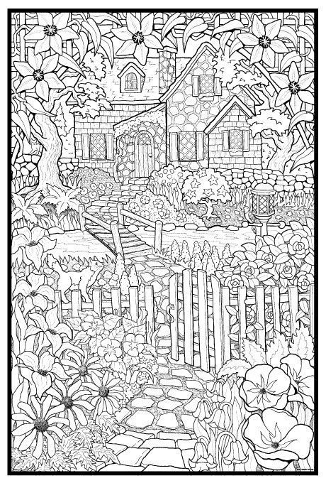 House And Garden Coloring Page
