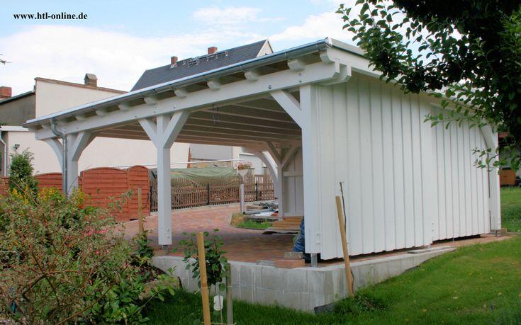 Carport aus Holz - HTL #Holztechnik #Holz #Arbeit mit Holz #Carport aus Holz