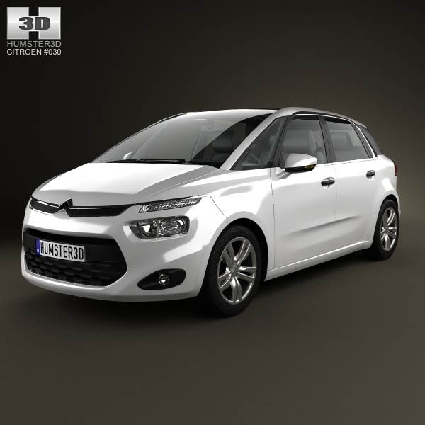 Citroen C4 Picasso 2014 3d model from humster3d.com. Price: $75