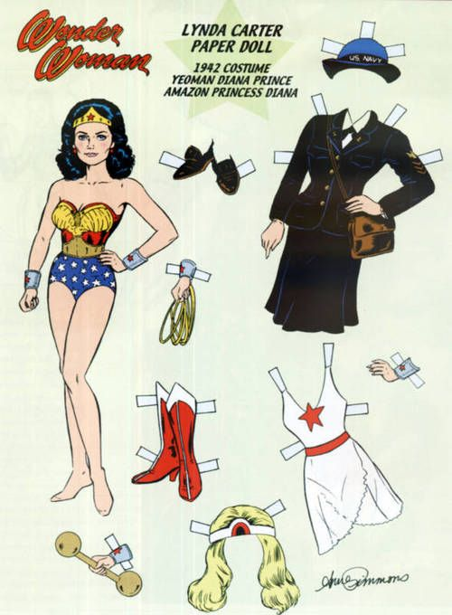 Super Seventies - Lynda Carter Paper Doll, 1970s.