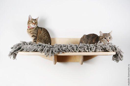 """Аксессуары для кошек, ручной работы. Ярмарка Мастеров - ручная работа. Купить Полка """"Смотровая площадка"""". Handmade. Белый, игрушки для кошек"""