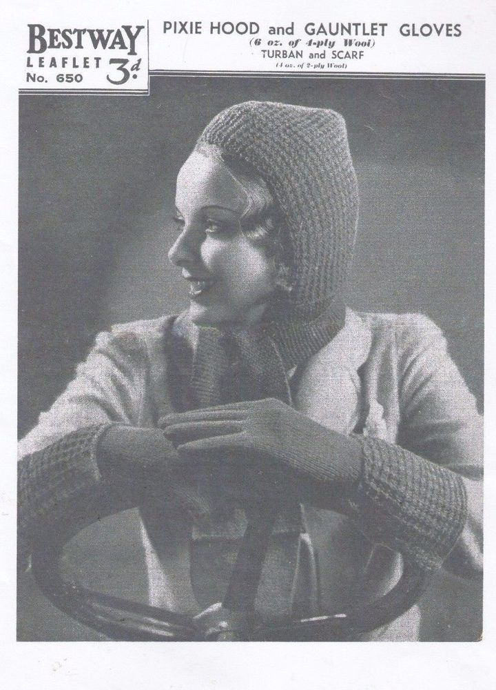 Copy 1940s Wartime Turbans and Gloves Knitting Pattern