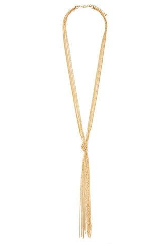 Knotted-Tassel Necklace | Forever 21 - 1000181473