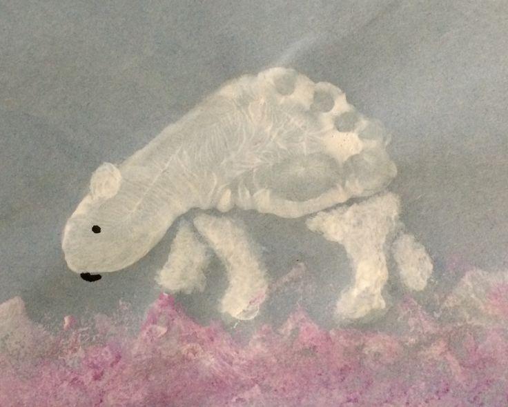 Foot Print Polar Bear