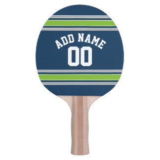 Blue and Green Sports Jersey Custom Name Number Ping-Pong Paddle