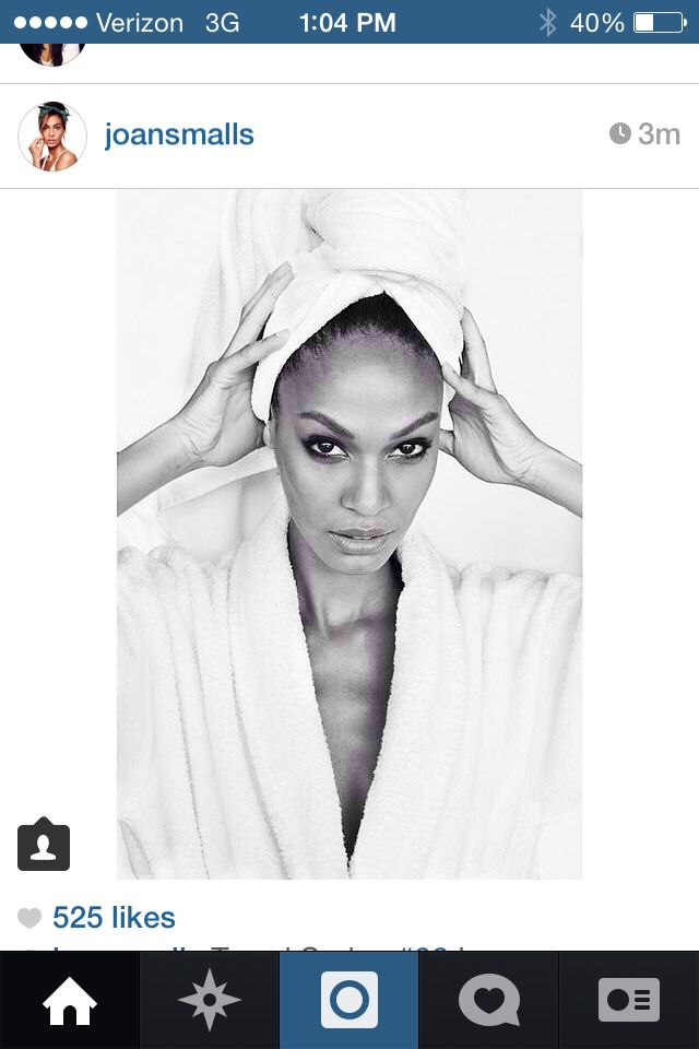 Getting ready photo for wedding -Joan Smalls inspiration