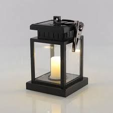 TWO 2 Classic Outdoor Solar Power Yellow LED Candle Light Yard Garden Decoration Tree Lantern Hanging Lamp – 101 Super Deals