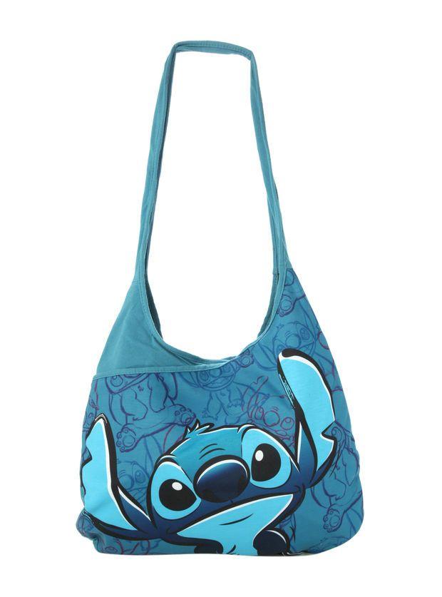 Disney Lilo & Stitch Blue Hobo Bag