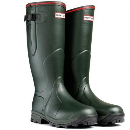 Hunter Balmoral Neoprene Wellingtons - Dark Olive