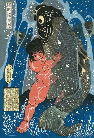 """Utagawa Kuniyoahi ~坂田怪童丸 """"Sakata kaidōmaru"""""""