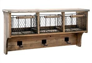Shelf: Wall Decor, Kitchens Shelves, Storage Solutions, Storage Shelves, Bathroom Storage, Farmhouse Wall, Mud Room, Wall Shelves, Wire Baskets