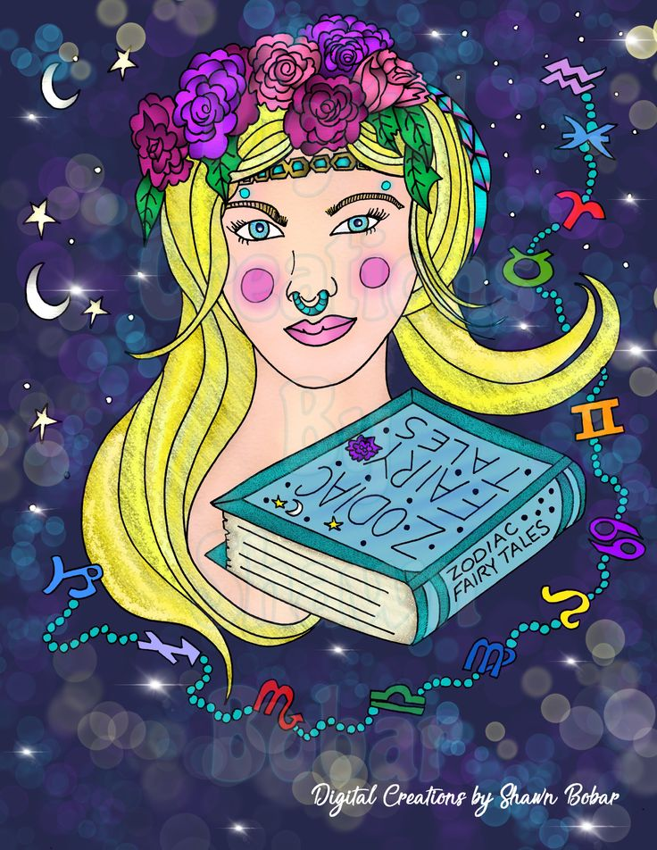 Cover Of Michelle Kahler Andreea Dragois New Book Zodiac Fairy Tales Digitally Colored