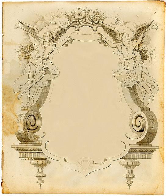 scrolled angel frame