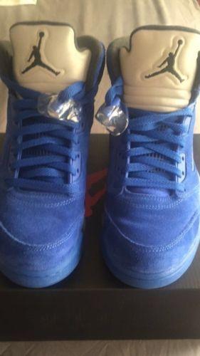 finest selection b2b88 12821 Nike Air Jordan 5 Blue Suede 100 % Authentic size 8 | eBay ...