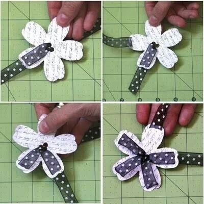 A flat flower tutorial - perfect for journal, scrapbooks or cards.