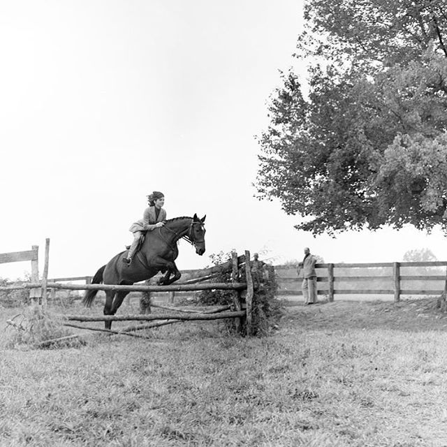 It's time to jump for joy! First Lady Jacqueline Kennedy performs a jump with her horse »Sardar,« on the grounds of Glen Ora in Middleburg, Virginia. September 25, 1962  #MuseumTHEKENNEDYS #Berlin #TheKennedys #JackieKennedy #JacquelineKennedy #IconicWomen #USA #horse #horseriding #jumpforjoy #Auguststrasse #MiddleburgVirginia #Sadar #GlenOra #FirstLady #MuseumBerlin #ArtinBerlin #HappyWednesday #itstimetojumpforjoy #photooftheday #joy #jump  Photo: http://bit.ly/2aADhoV