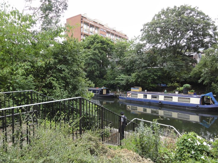 Regents Canal just off the Caledonian Road, Islington, London.  Right over the road from the Muriel Street Care home.
