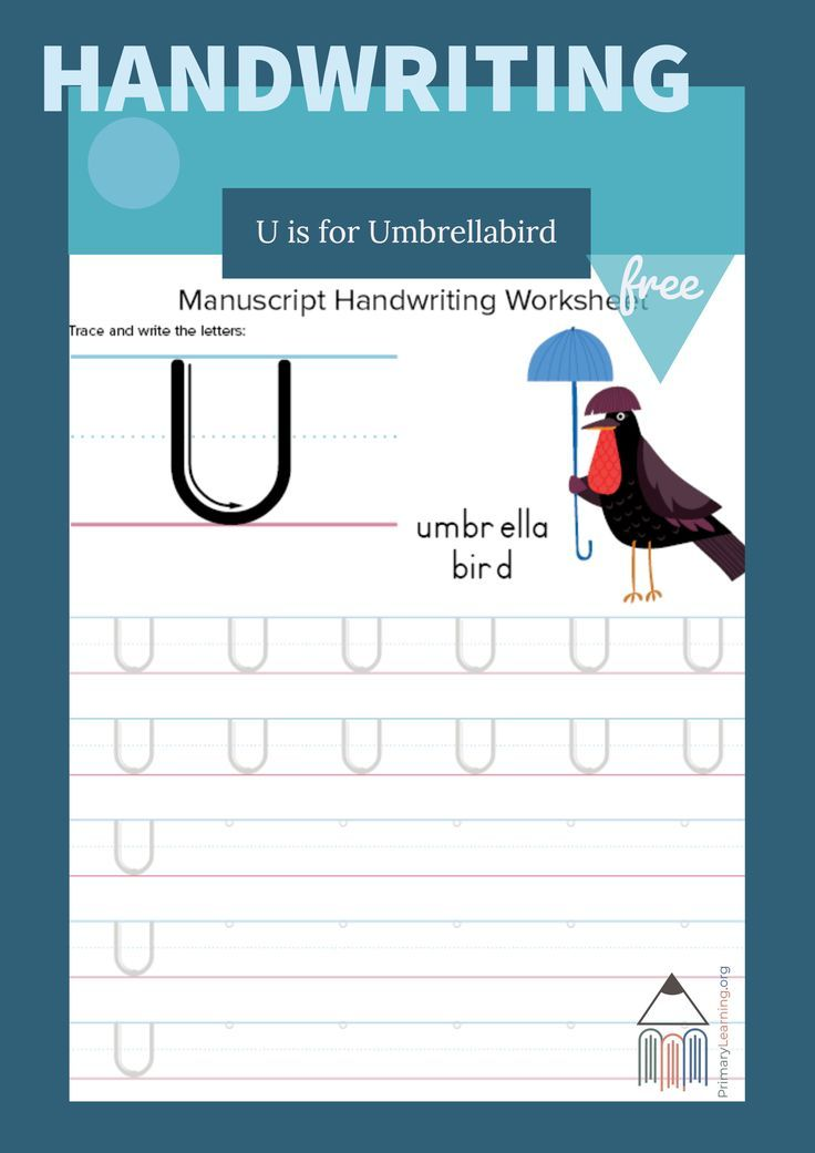 Writing And Tracing Letter U Teaching Kindergarten Writing