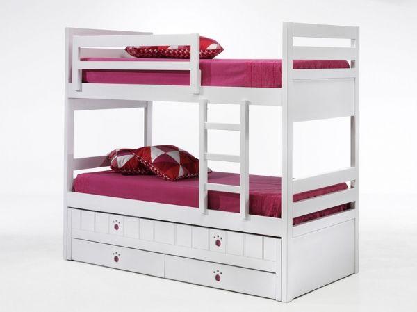 Litera lacada con 3 camas y cajones 59 - trilitera lacada blanca pvp 1655 euros