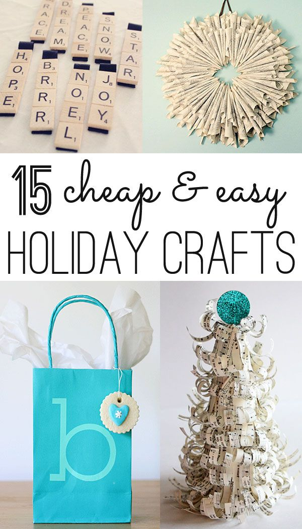 great collection of pretty, easy & cheap Christmas crafts