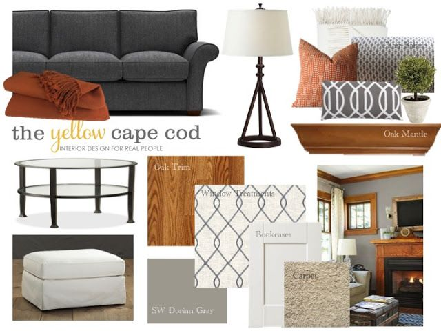 An Updated Family Room Featuring Oak Trim
