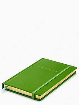 Take Note the grass is always greener Large Notebook by kate spade new york