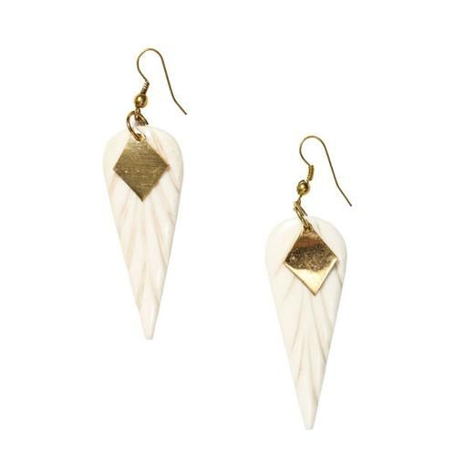 Anika Bone Earrings - handmade, fair trade