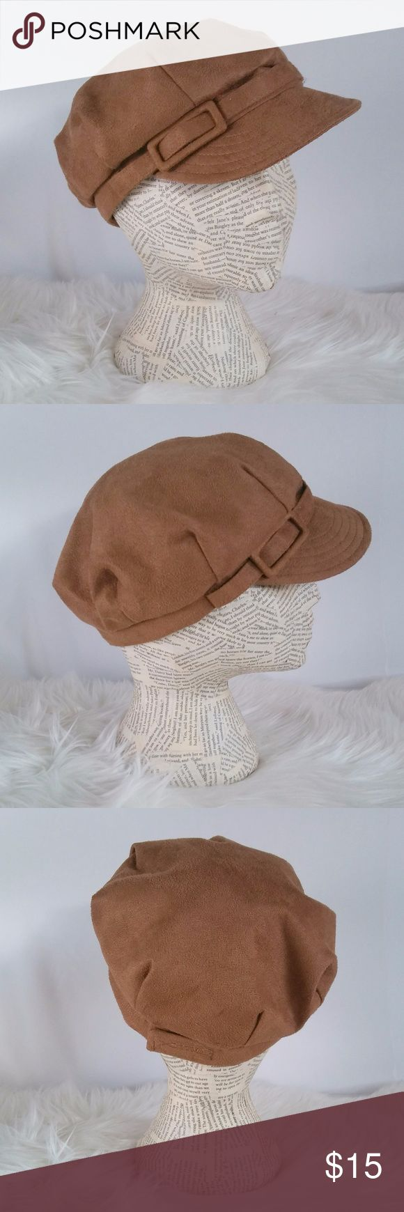 "Betmar of New York Suede Page Boy Hat NWOT Adorable little hat from a company that has been making hats since the Great Depression. But nothing depressing here, just a super cute, trendy fashion had that can easily double as a utility hat!   Brand: Betmar of New York Size: 23"" with 2"" adjustable velcro closure Color: Tan/caramel brown Fabric: faux suede, fully lined w/ cotton blend Care: Hand Clean Imported New With  Out Tags  Reasonable Offers Welcome! Bundle and Save on Shipping! Betmar of…"