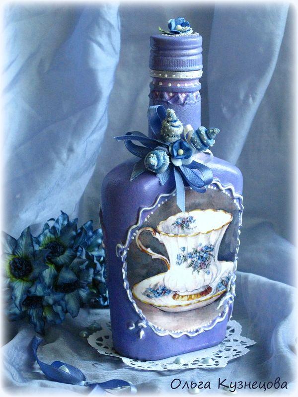 Декупаж, декор бутылок. decoupage and decor bottle