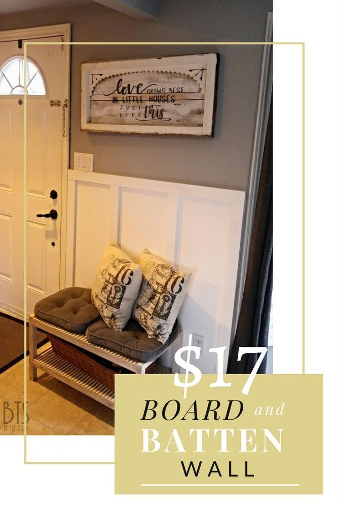 I have wanted to do a board and batten wall ever since I saw Whitney and Ashley do one. If you don't know these fabulous ladies, they are the Shanty 2 Chic sist…