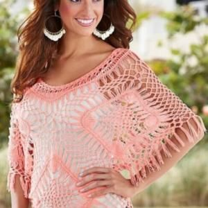 hollow out crochet top