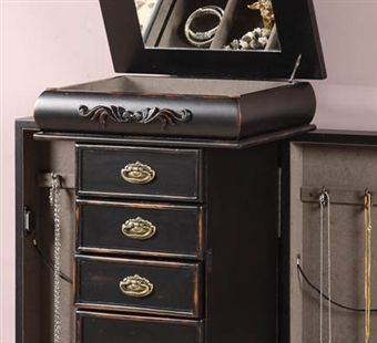 78 best images about jewelry armoire redo on pinterest for Juno vintage modern jewelry armoire