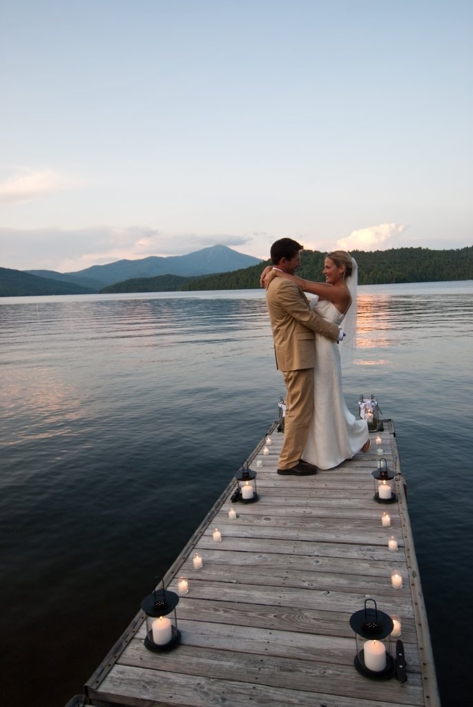 First dance on the dock. www.lakeplacidlodge.com