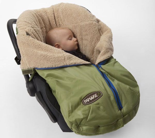 Babies are snug as a bug with Papoose from 7A.M Enfant.  Wonderful for the Spring time....car seats, and strollers...!