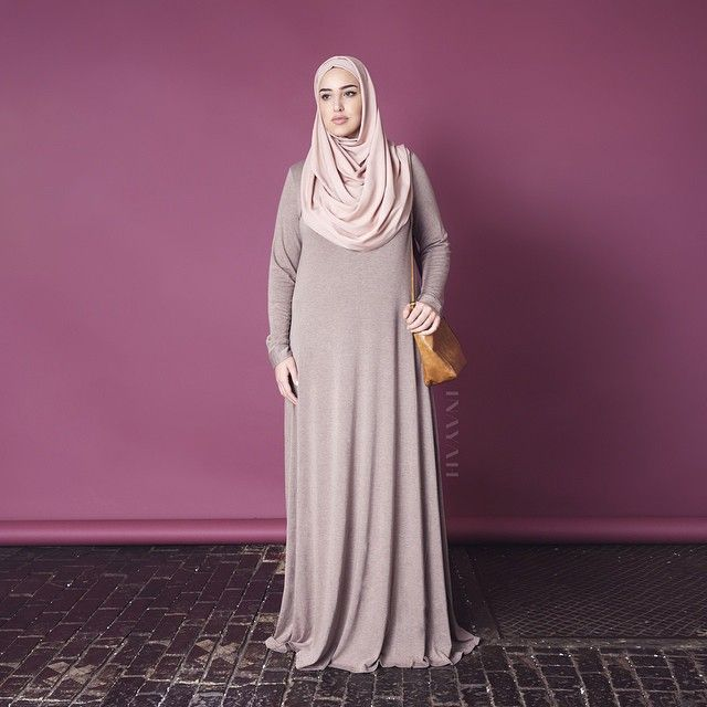 INAYAH   Mink Essential #Abaya + Light Mocha Rayon #Hijab www.inayahcollection.com