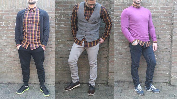 1 shirt, 3 stijlen