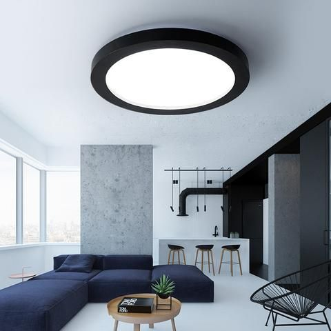 Simple Fashion Ceiling Light, Circular Black Or White LED   Dimmable!