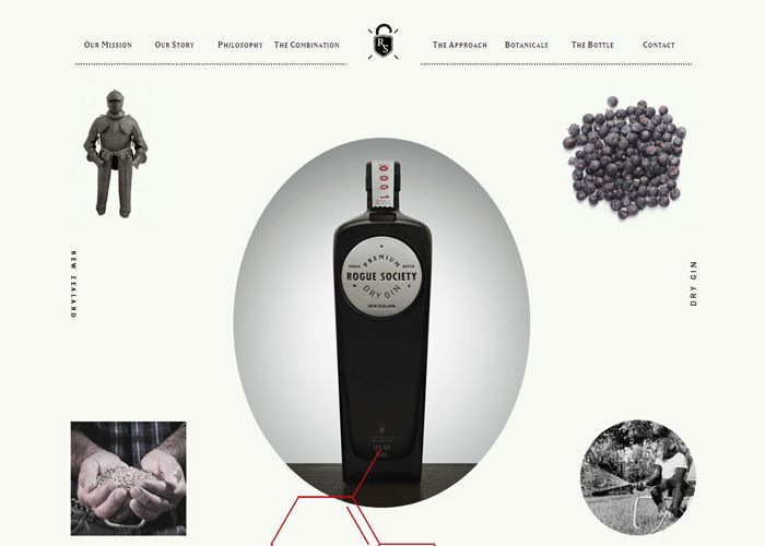 Paralax:  Rogue Society #webdesign #inspiration #UI