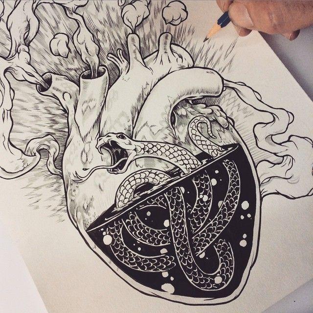 Chris Varricchione - heart drawing                                                                                                                                                                                 Más
