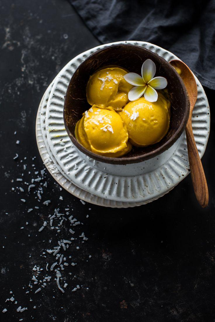 Instant Vegan Mango Ice Cream