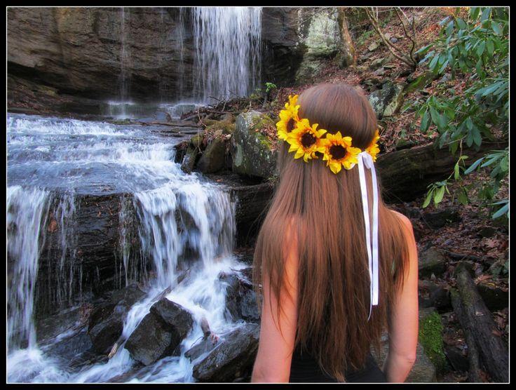 Sunflower crown sunflower headband sunflowe headpiece  Sunflowers Halo Hair Headpiece harvest summer  wedding sunflower festival