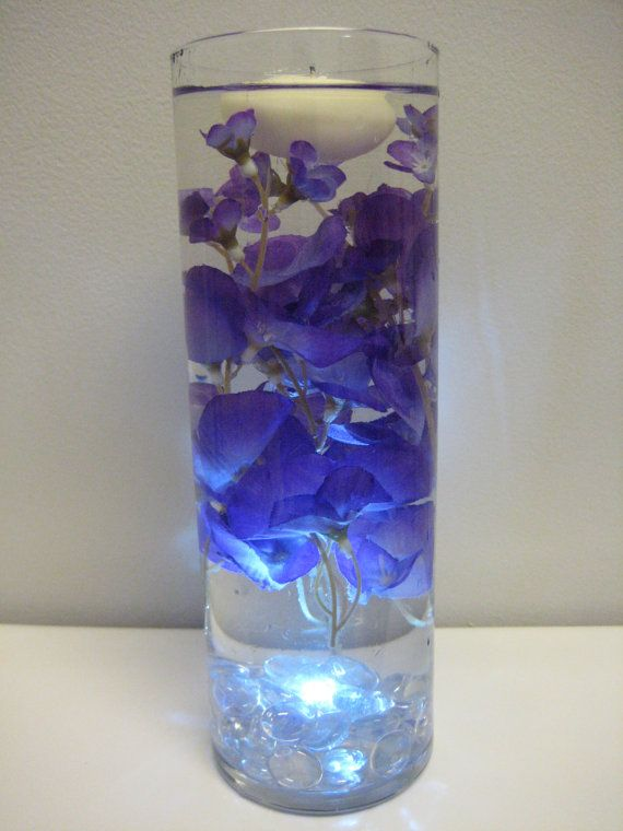 Wisteria floating candle wedding centerpiece kit with