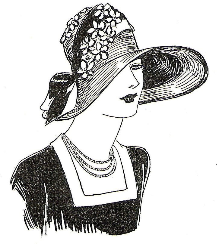 Fashion Hats Coloring Pages Books Ladies Ideas Painting People Embroidery Patterns Hand Needlecrafts Digital Stamps