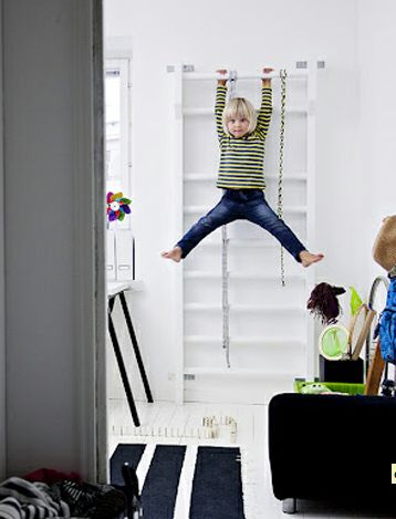 Kids love ladders so why not bolt one to their wall.