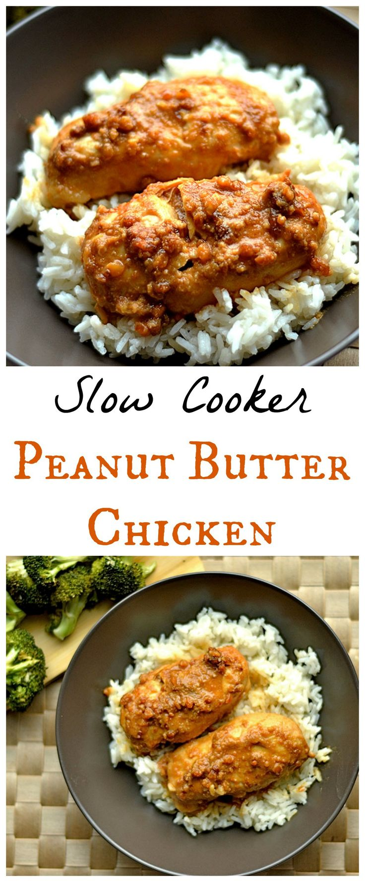 Slow Cooker Peanut Butter Chicken   **can replace rice wine vinegar with white vinegar and dried cilantro**
