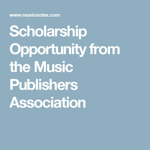 Scholarship Opportunity from the Music Publishers Association