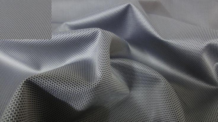 Schwarz/Grau WASSERDICHT Nylon STOFF Netzoptik Cordura Outdoor