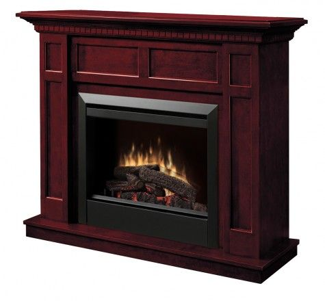 Dimplex - Home Page » Fireplaces » Mantels » Products » Caprice Electric Fireplace @Wendy Michaud  here is a dimplex fireplace which has a big firebox
